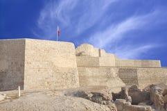 bahrain zamkniętej fortu strony południowy veiw Fotografia Royalty Free