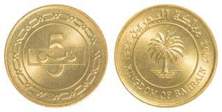 5 Bahraini dinar coin Stock Photo