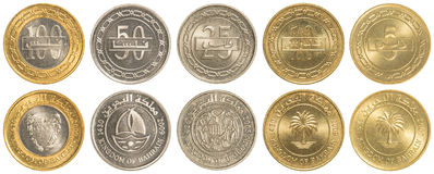 Bahraini dinar coins collection set Stock Image