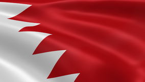 Bahraini flag in the wind stock footage