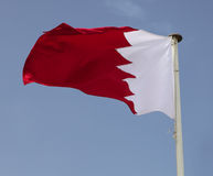Bahraini national flag Royalty Free Stock Image