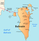 bahrainmap Royaltyfri Bild