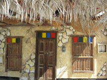 Bahrainskt arabiskt traditionellt hus Arkivfoto