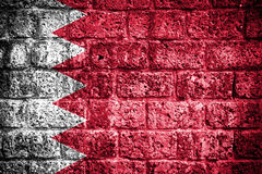 Bahrajn flaga Zdjęcia Royalty Free
