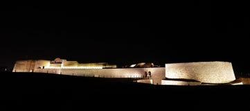 Bahrajn fort przy nocą Obrazy Royalty Free