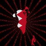 Bahrajn mapy flaga na czerwonej hex kodu wybuchu ilustraci Fotografia Royalty Free