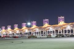 Bahrajn Międzynarodowy obwód przy nocą Fotografia Stock