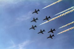 Bahrajn pokazu lotniczego pokaz Obrazy Royalty Free