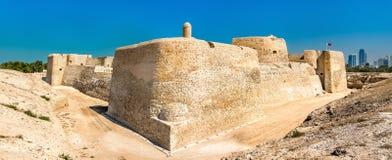 Bahrajn Qal lub fortu ` przy Bahrajn UNESCO światowego dziedzictwa miejsce zdjęcie stock