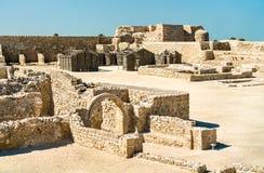 Bahrajn Qal lub fortu ` przy Bahrajn UNESCO światowego dziedzictwa miejsce obrazy royalty free