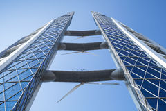 Bahrajn world trade center fasada bahrain Manama Obraz Royalty Free
