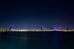 Bahrein en la noche Fotos de archivo libres de regalías