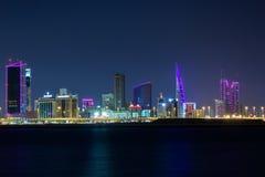 Bahrein en la noche Imágenes de archivo libres de regalías