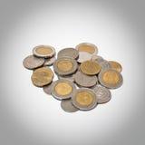 Baht 10 auf der Münze Stockfotografie