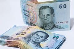 50 Baht, Bargeld Stockbild