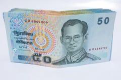 50 Baht, Bargeld Stockfoto