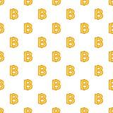 Baht currency symbol pattern, cartoon style. Baht currency symbol pattern. Cartoon illustration of baht currency symbol vector pattern for web Stock Photo