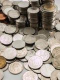Baht da pilha da moeda Imagens de Stock Royalty Free