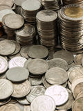 Baht de pile de pièce de monnaie Photos libres de droits