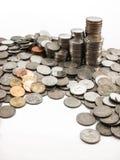 Baht de pile de pièce de monnaie Image libre de droits