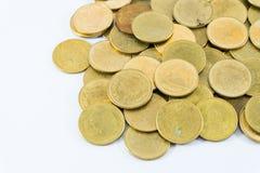Baht della moneta 2 del ` s della Tailandia su fondo bianco Fotografie Stock Libere da Diritti