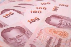 Baht der Querneigung-100 von Thailand. Stockfotografie