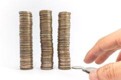 Baht do dinheiro Foto de Stock