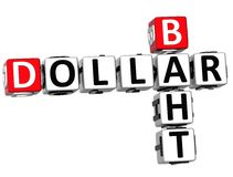 Baht-Kreuzworträtsel des Dollar-3D Lizenzfreie Stockfotos