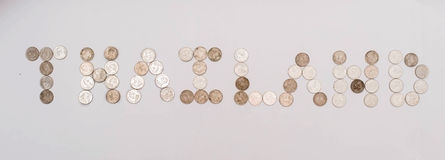 Baht monety brogować wpólnie Obraz Royalty Free