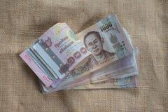 Baht tailandés de la moneda 1000 Fotografía de archivo libre de regalías