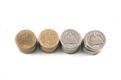 Baht tailandés de /two de las monedas Fotografía de archivo