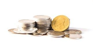 Baht tailandês, dinheiro, moeda tailandesa Moedas tailandesas do dinheiro & x28; bath& x29; Fotos de Stock Royalty Free