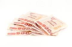 Baht 100 tailandês do dinheiro Fotografia de Stock Royalty Free