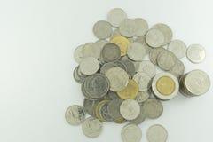 Baht tailandês Tailândia em um fundo branco Imagem de Stock Royalty Free