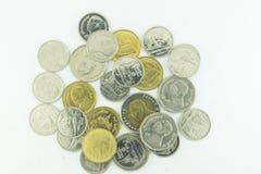 Baht tailandês Tailândia em um fundo branco Imagem de Stock