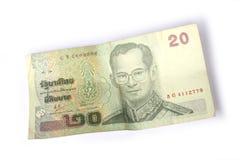 baht tailandese 20 Fotografia Stock Libera da Diritti