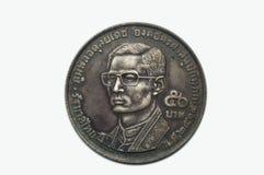 Baht tailandese della moneta 50 Fotografia Stock