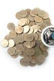 Baht tailandese di /two delle monete Immagini Stock Libere da Diritti