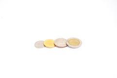 Baht tajlandzkie monety Zdjęcia Royalty Free