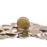 Baht thaïlandais, argent, pièce de monnaie thaïlandaise Pièces de monnaie thaïlandaises d'argent et x28 ; bath& x29 ; escalier Photo stock