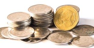 Baht thaïlandais, argent, pièce de monnaie thaïlandaise Pièces de monnaie thaïlandaises d'argent et x28 ; bath& x29 ; Photo libre de droits