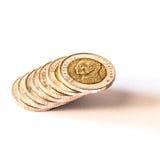 Baht thaïlandais, argent, pièce de monnaie thaïlandaise Pièces de monnaie thaïlandaises d'argent et x28 ; bath& x29 ; escalier Photographie stock libre de droits