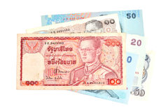 100 Baht Thai banknotes Royalty Free Stock Photos