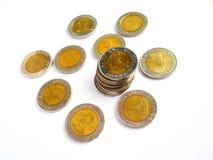 10 baht thai mynt Royaltyfria Bilder