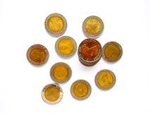 10-Baht-thailändische Münze Stockfoto