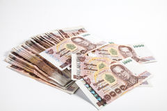 1000 Baht Thaise bankbiljetten Stock Afbeelding