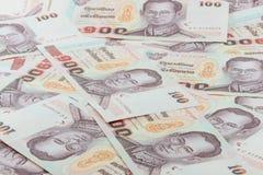 100 Bahtbankbiljet Stock Foto's