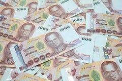 1000 Bahtbankbiljetten Stock Fotografie
