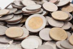 bahten coins thai royaltyfri fotografi