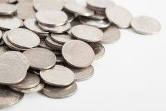 bahten coins thai royaltyfria bilder